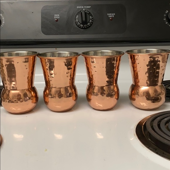 Pier 1 Hammered Copper Glass